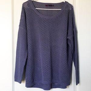Prana Parker Open Knit Sweater Lavender